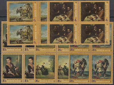 XG-AF676 RUSSIA - Paintings, 1972 Foreign Painters, Block Of 4 MNH Set