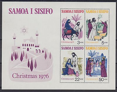 XG-AE789 SAMOA I SISIFO - Christmas, 1976 Nativity MNH Sheet