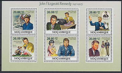 XG-AF124 MOZAMBIQUE IND - Kennedy, 2009 Anniversary, 6 Values MNH Sheet