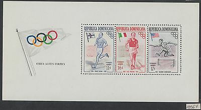 XG-AH087 DOMINICAN REP. - Olympic Games, 1956 Melbourne, Airmail MNH Sheet