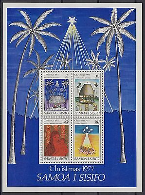 XG-AE791 SAMOA I SISIFO - Christmas, 1977 Madonna And Child MNH Sheet