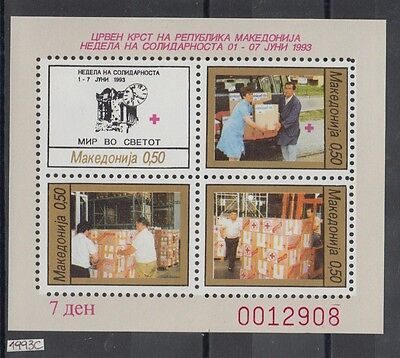 XG-AI664 MACEDONIA - Red Cross, 1993 Solidarity Week MNH Sheet