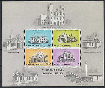 XG-AE796 SAMOA I SISIFO - Architecture, 1979 Churches, Christmas MNH Sheet