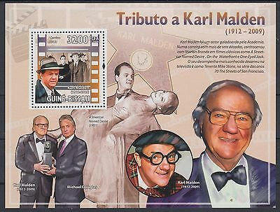 XG-AF043 GUINEA-BISSAU - Cinema, 2009 Karl Malden, Movies, 1 Value MNH Sheet