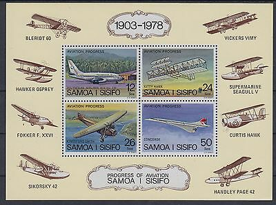 XG-AE792 SAMOA I SISIFO - Aviation, 1978 Polynesian Airlines, Concorde MNH Sheet