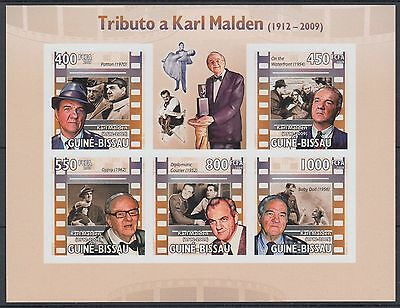 XG-AF044 GUINEA-BISSAU - Cinema, 2009 Karl Malden, 5 Values Imperf. MNH Sheet