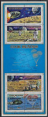 XG-AD931 COOK ISLANDS IND - Space, 1972 Hurricane Relief Overprinted MNH Sheet