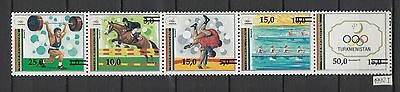 XG-AI721 TURKMENISTAN - Olympic Games, 1992 Barcelona '92 Strip, Ovp. MNH Set