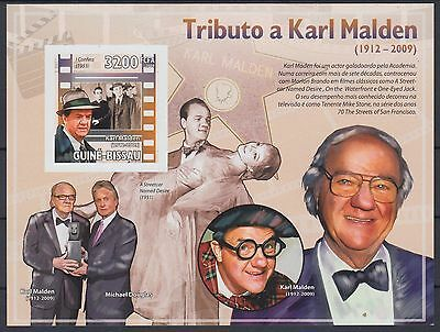 XG-AF045 GUINEA-BISSAU - Cinema, 2009 Karl Malden, 1 Value Imperf. MNH Sheet