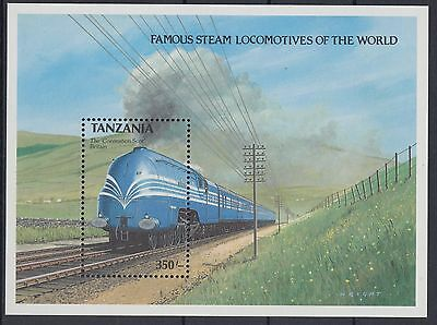 XG-AE936 TANZANIA - Trains, 1989 Locomotives, Railways MNH Sheet