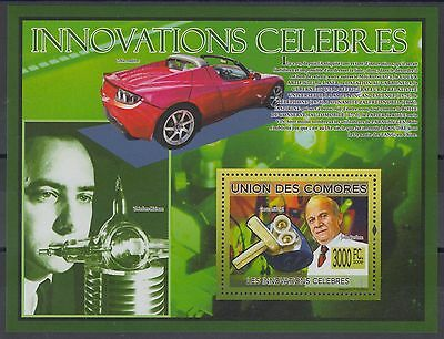 XG-AF223 COMOROS IND - Cars, 2009 Inventions, Bardeen, Mechanic Heart MNH Sheet