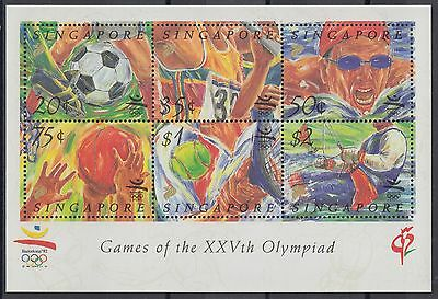 XG-AE715 SINGAPORE IND - Olympic Games, 1992 Barcelona '92, Football MNH Sheet