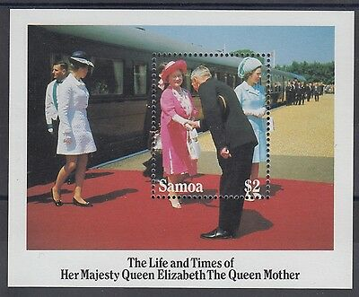 XG-AE809 SAMOA I SISIFO - Royalty, 1985 Queen Mother 85Th Birthday MNH Sheet