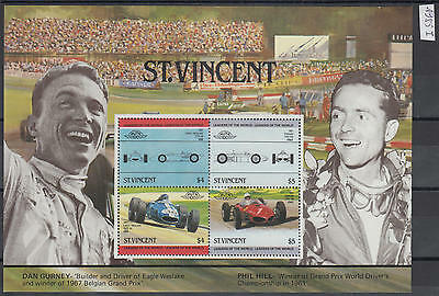 XG-AG608 ST VINCENT - Cars, 1985 Automobiles, Leaders Of The World MNH Sheet