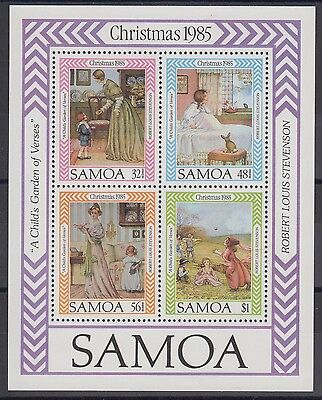 XG-AE811 SAMOA I SISIFO - Christmas, 1985 Children Book Illustrations MNH Sheet