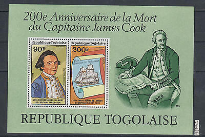 XG-AI191 TOGO IND - Capt. Cook, 1979 Anniversary, Ships, Exploration MNH Sheet