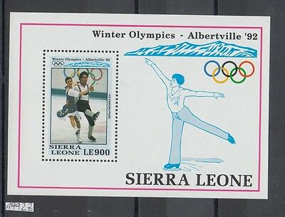 XG-AI118 SIERRA LEONE IND - Olympic Games, 1992 Winter Albertville '92 MNH Sheet