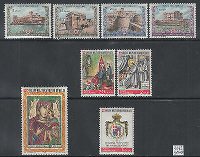 XG-Q097 SMOM/VATICAN CITY - Year Set, 1972 Castles, Complete As Per Scan MNH