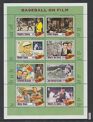 XG-AI178 GAMBIA IND - Baseball, 1993 On Film, Cinema, Music, Sinatra MNH Sheet