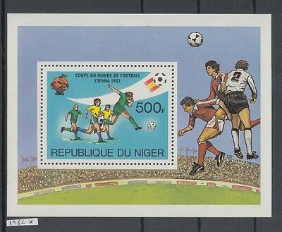 XG-AI917 NIGER IND - Football, 1982 Spain World Cup MNH Sheet