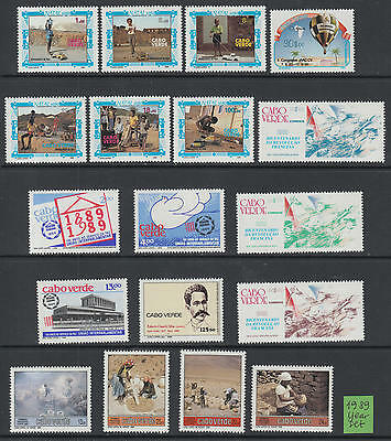 XG-G099 CAPE VERDE IND - Year Set, 1989 Complete As Per Scan MNH Set