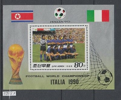 XG-AJ394 KOREA - Football, 1988 World Cup Italy '90 MNH Sheet