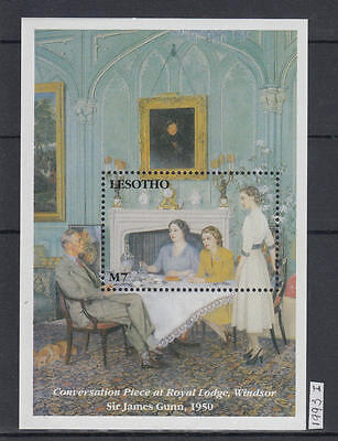 XG-AJ386 LESOTHO - Qeii, 1993 Paintings, Sir James Gunn MNH Sheet