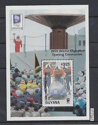 XG-AJ388 GUYANA - Olympic Games, 1993 Winter Opening Ceremony MNH Sheet