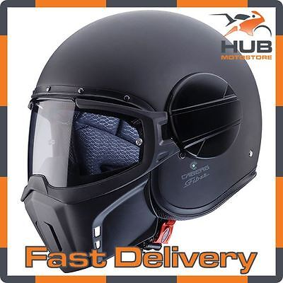 Caberg Ghost Open Face Modular Motorcycle Motorbike Crash Helmet - Matt Black
