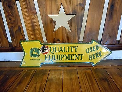 John Deere Quality Equipment Used Here Decorative Tin Advertising Sign New USA