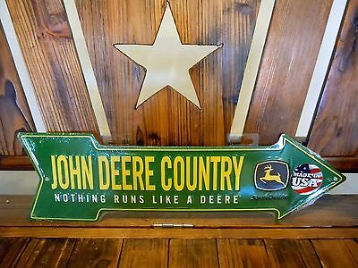 John Deere Country Nothing Runs Like Decorative Tin Advertising Sign New MadeUSA
