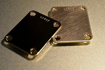 Custom Gold NECK PLATE, NECKPLATE with your choice of name or number