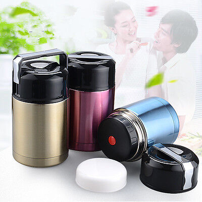 800ml Stainless Steel Vacuum Lunch Box Thermos Food Jar Food Container Insulated