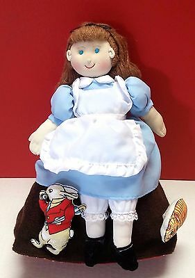 HTF Alice In Wonderland Topsy Turvy Cloth Doll Plush Mad Hatter Queen Of Hearts
