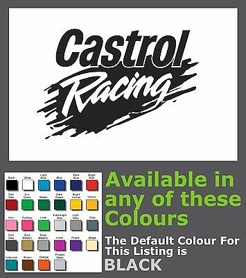 CASTROL RACING Cut vinyl Sticker/Decal - 206mm x 140mm