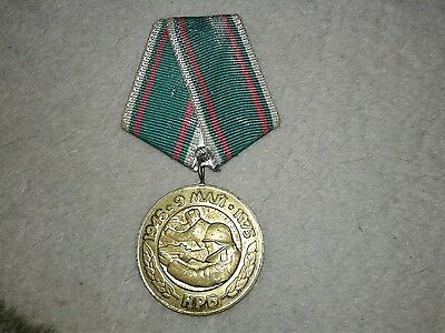 Bulgaria. Military WWII Medal & Document - 30 Years Victory over Nazi Germany
