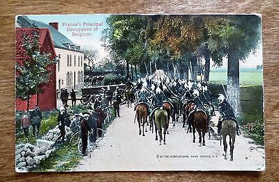 1910s WWI French France Principal Occupation of Belgium View Postcard Unused
