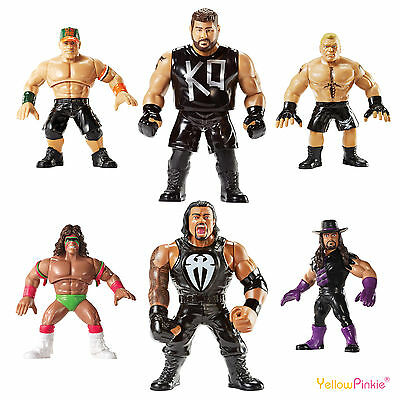 "WWE Mattel Retro Series 4"" Action Figure 2016 NEW (Hasbro Style)"