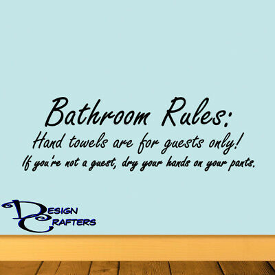 Fabulous Bathroom Rules Home Office Restroom Potty Removable Vinyl Wall Door Art Decal Beutiful Home Inspiration Semekurdistantinfo