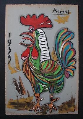 PABLO PICASSO   OIL PAINTING ON  ORIGINAL PAPER OF THE 30s-