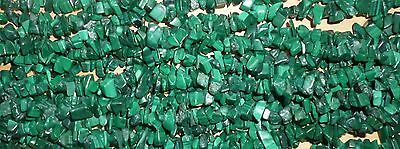 Malachite Drilled Chips - String approx 34 inches long and weighs 80 grams