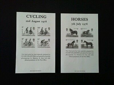 1978 Cycling & Horses Black Prints.