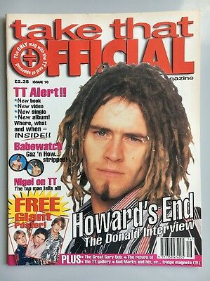Take That Official Magazine Issue #16 w Posters / 1990s 90s Vintage Near Mint