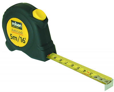 *BEST Measuring Tapes Rolson DIY Tape Measure With Belt Clip 5m x 19mm NEW