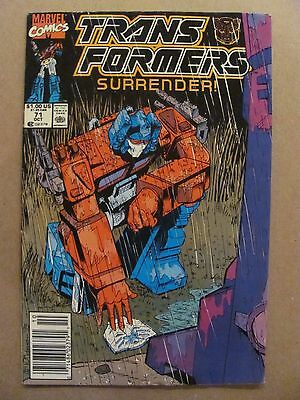 Transformers #71 Marvel Comics 1984 Series Newsstand Edition