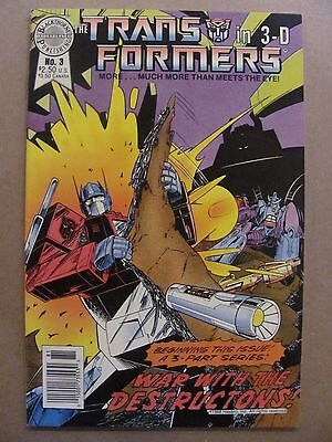 Transformers 3-D #3 Blackthorne Publishing 1988 with 3-D Glasses 9.0 VF/NM