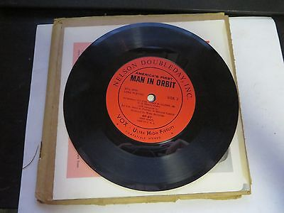 "John Glenn Project Mercury Astronaut: America's First Man in Orbit 7"" LP Record"
