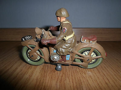 Elastolin british or US ? Soldier WWII Motorcycle Dispatch Rider