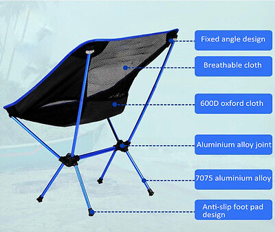 Outdoor Chair Picnic Folding Fishing Ultralight Camping Portable Seat Convenient