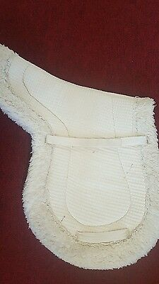 White Fleece English Saddle Pad - Used